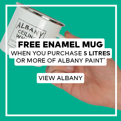 Free Enamel Mug When you Purchase 5 litres or more of Albany Paint